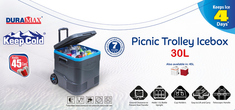 Final Picnic Trolley Icebox 30L Sticker Duramax