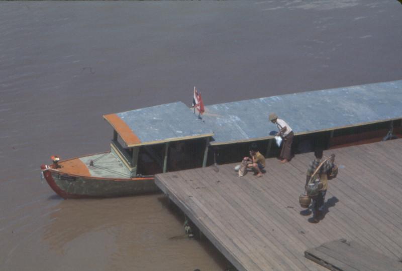 Mekong River supply boats