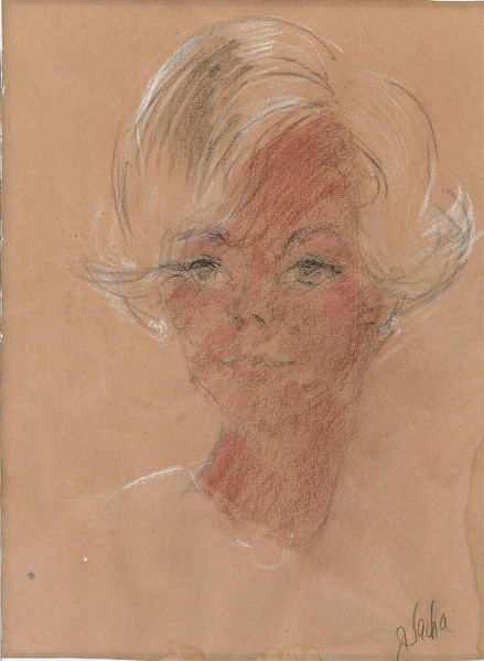 Drawing of Connie made in a San Francisco nightclub in 1966