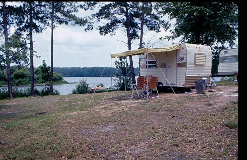 Camping at Paul B Johnson State Park, 1974