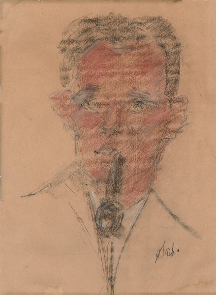 Drawing of Ron made in a San Francisco nightclub in 1966
