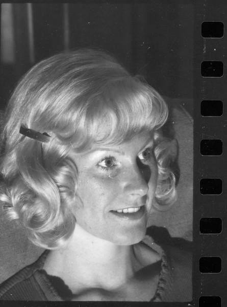 Connie's famous hairdo, 1974
