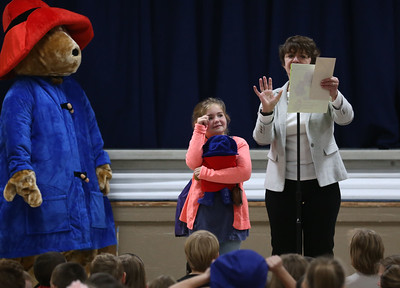 Molly Stark third grader receives the Paddington Bear Award. 091018