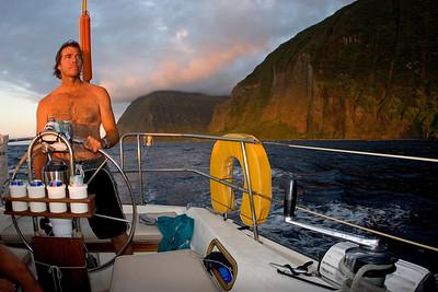 "the ""backside"", Northern coast of Molokai, Bob"