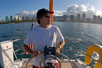 leaving Oahu, Bob - Honolulu in the back