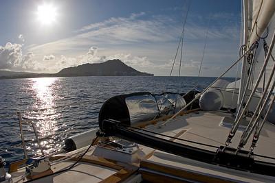 leaving Oahu, Diamond Head