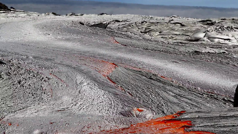 Ruptured lava tube erupting from Kilauea Volcano Hawaii Island  _____         *Click the 'Play' arrow then: HOVER ON THE 'AUTO' BUTTON AND SELECT 720p or higher  FOR BETTER VIEWING