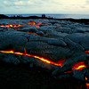 ~ Pele Meets People ~<br /> <br /> Pahoehoe lava slowly churns and covers older lava along the southeast shores of the Island of Hawaii while visitors walk the edges.