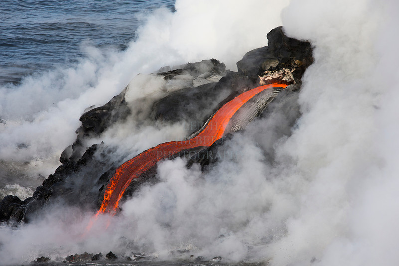 This is a pretty cool lava river! I loved how the steam comes and goes; sometimes hiding all that action.