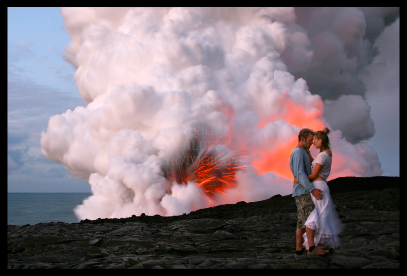 ~ Lava Lovers ~ aka ~ Magma Passions ~ <br /> <br /> A couple I found out at this location just as you see them, at 5:30 in the morning....