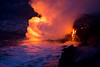 Ocean entry lava 2.7 miles southwest of Kalapana; bordering Hawaii Volcanoes National Park March-April 2013<br /> <br /> IMG# LRH_1052<br /> Date Taken:	2013-03-23 05:55:15 (The magic light time :)