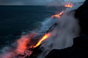 Surreal Lavascape: At dawn; Ocean entry lava 2.7 miles southwest of Kalapana; bordering Hawaii Volcanoes National Park March 2013<br /> <br /> IMAGE # LRH_0659_D (Enlarges well to 40 X 60 -inches; as do all images in this gallery.)