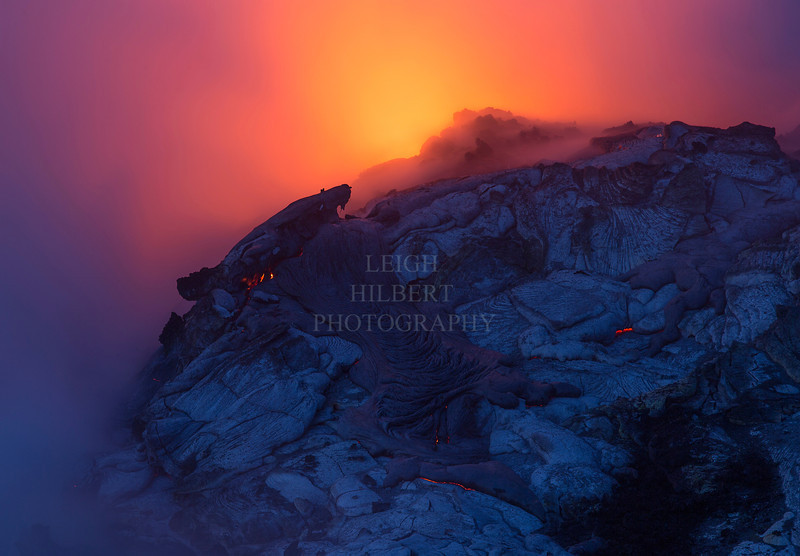 "Surreal dreamy scene as molten lava meets the ocean in that magical pre-dawn light<br /> <br /> IMG# LRH_1307_Crp<br /> NOTE: you can click on any image to open new window and then click ""details"" to view EXIF technical data~~ and click it again to return here~~<br /> <br /> Date Taken:	2013-04-02 05:52:20<br /> Camera:	Canon EOS-1D X<br /> Exposure Time:	3.2s (32/10)<br /> Aperture:	f/9<br /> ISO:	100<br /> Focal Length:  200mm"