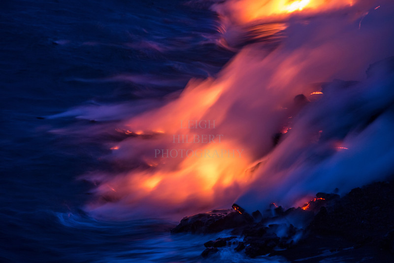 That magical pre-dawn light with lava and ocean makes for magically surreal images.<br /> <br /> Image # LRH_1792_D