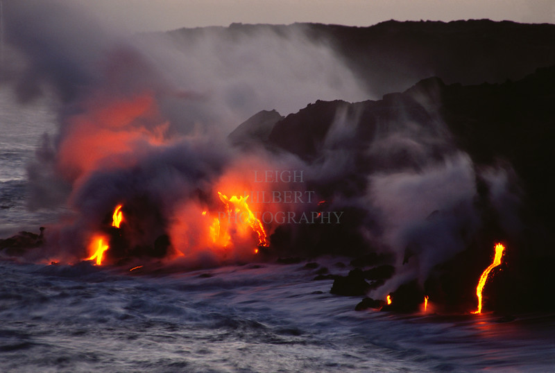 Earth Air Fire Water<br /> <br /> ~ Molten Lava Enters the Sea ~<br /> <br /> This photo has the Firewolf in it ;)<br /> <br /> Island of Hawaii