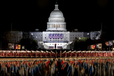 The U.S. Capitol on the eve of the 59th Presidential Inauguration