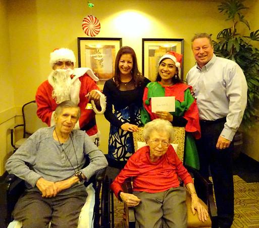 Mom Stewart Christmas Dinner at Brightwater Senior Living, December 15, 2017