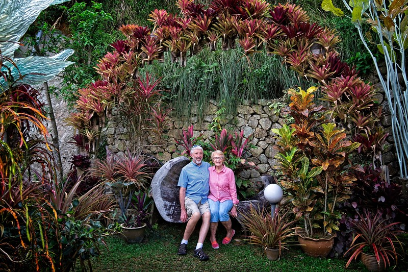 Mom and Dad at Art and Garden