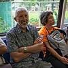 Dad riding the MRT