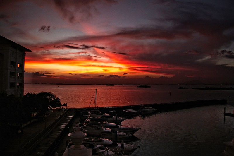 Sunrise over the Straits of Malacca