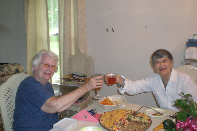 Jean & Mary Rhudy at the goodbye get together