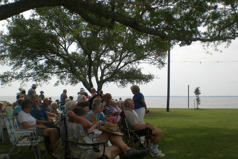 Community Church Service at the waterfront