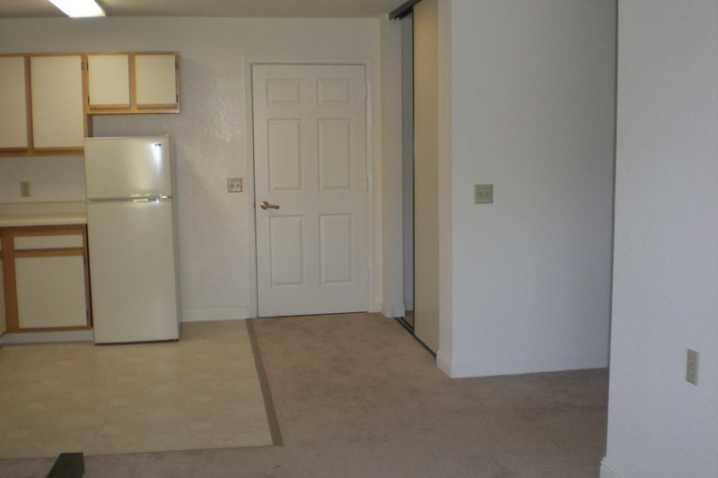 Note closet just inside main door to right and then hallway to right leads to bathroom and bedroom