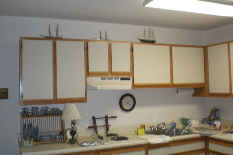 Dad's models up above cabinets