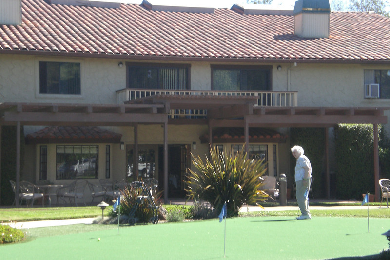 Mom on the putting green