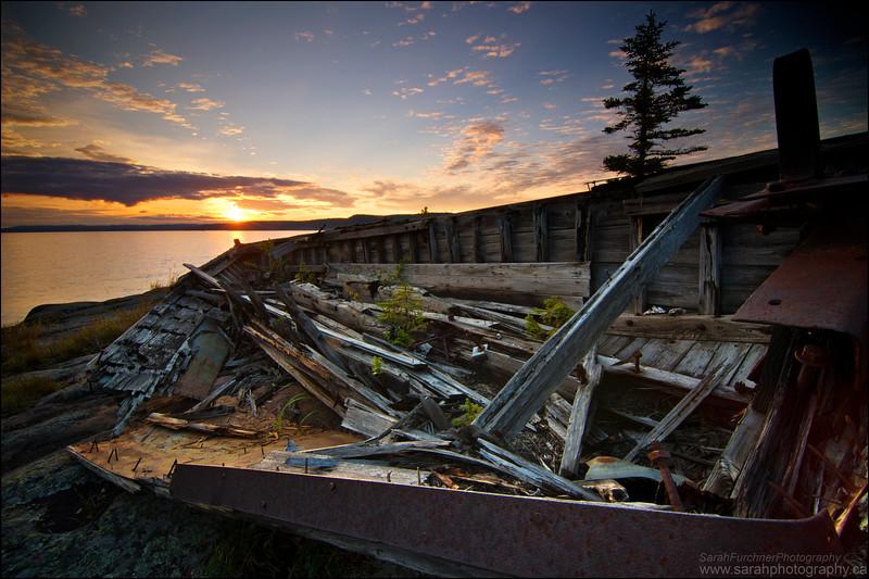 Old logging barge. Neys Provincial Park, ON