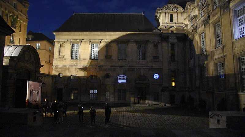Stills from video documentation of Moment: Marais at the Bibliotheque historique de la ville de Paris, 1 Oct 2016.