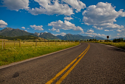 BIg Sky & Absaroka Mountains Near Livingston, MT  Use File name below for ordering