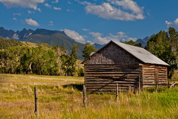 Old Cabin near Livingston, MT -  Use File name below for ordering