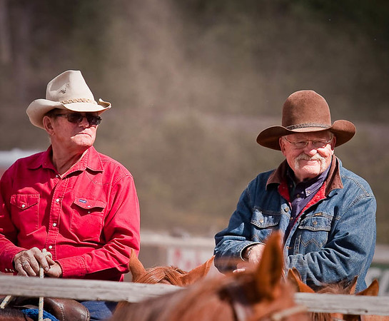Two Montana Buddies watching the rodeo. Note File name for ordering.