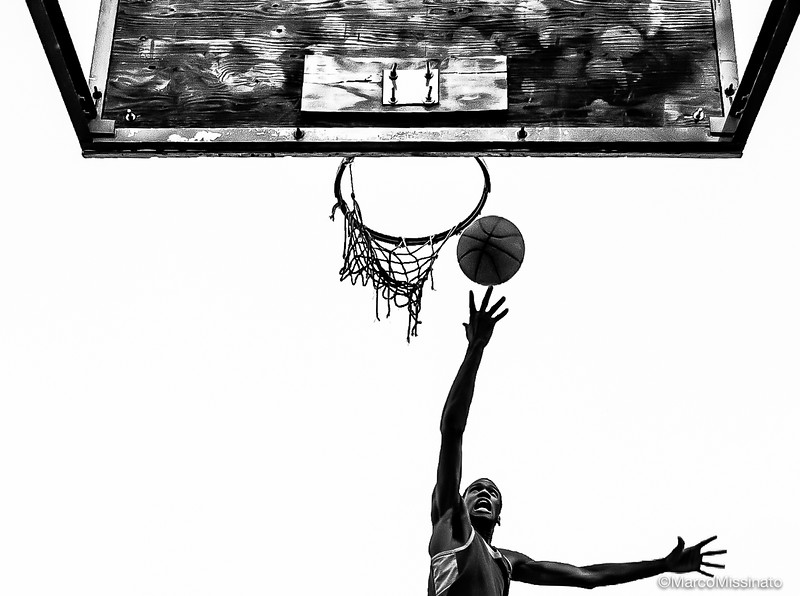 The Man The Ball And The Basket