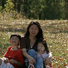 Photographed by Eric, October 4, 2008 ~ after Norman's soccer game.<br /> <br /> While Mommy, Norman & Elaine were waiting for Daddy to set up the camera for a family picture, Eric had already taken a nice shot for 3 of us.