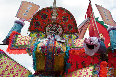 Taai Si Wong presides over the main altar of the Jiao Festival in Aberdeen.