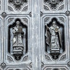 Figures on the Church of Our Savior Door, Moscow, Russia