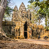Homewards, North Gate, Angkor Thom, Cambodia