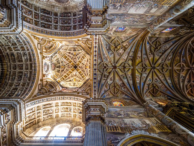 Nave Ceiling of the Monastery Church of San Jeronímo, Granada, Spain