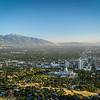The Salt Lake Valley at Sunset, Utah, USA