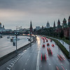 Along the Kremlin Embankment at Dusk, Moscow, Russia