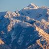 Specks of Geese against Lone Peak, Utah, USA