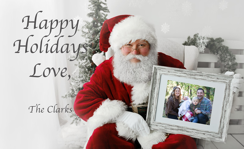 santa and frame with room for words