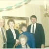 Uncle Al, Aunt Laurine, Marilyn and Steve - Grandma Toft in Front