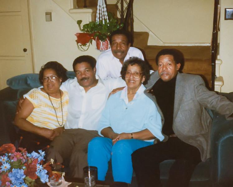 The Westberry Clan (L->R): Aunt Frances, Uncle Ronald, Uncle Vincent, Mom, Uncle Norman
