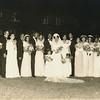 Wedding Party:<br />         •Alyce Westberry<br />         •Donald Allen<br />         • Dorothy<br />         • Melvin + Frances<br />         • Clyde + Mable<br />         • Bride + Groom<br />         • Sharon<br />         • Carol<br />         • Mother of Bride<br />         • Vincent (Best Man)<br />         • Aunt? Bulah (Cohen)<br />         • Margaret (sp?)<br />         • Addie<br />         • Audrey<br />         • Willow<br />         • Lulo Seaton