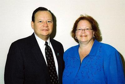 The Grand Bethel Associate Guardian, Jerry Taff, and Grand Bethel Guardian, Susan Goolsby
