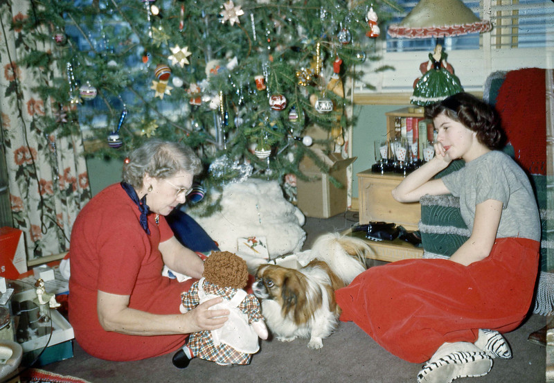 Dec. 1950 - Grandma & Elaine Christmas