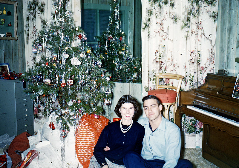 X-mas 1954 - Elaine & Dave Blair